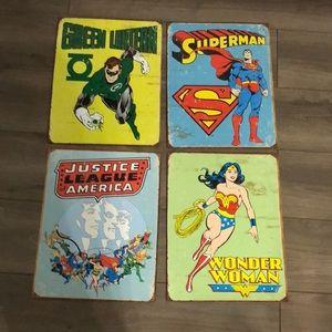 Other - Metallic super hero posters